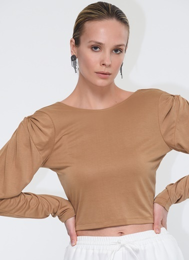 Tuba Ergin Sweatshirt Camel